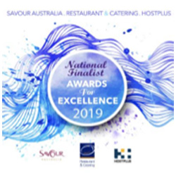 Silver at National Restaurant & Catering Awards for Best Contemporary Australian Restaurant