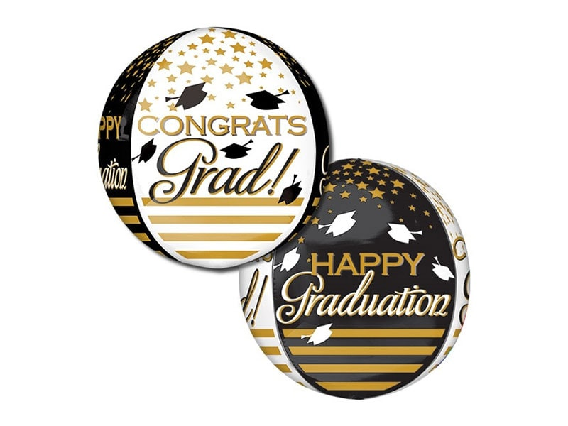 Orbz 16 Congratz Grad! (Gold & Black)