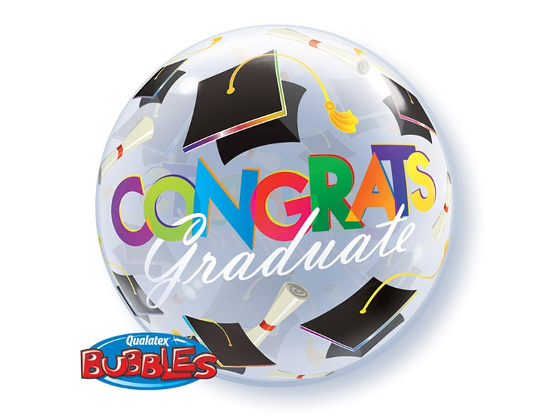 Bubble 22 Congrats Graduate (Graduation Caps)