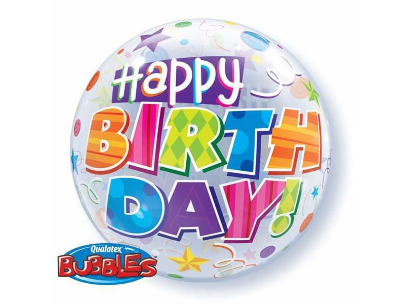 Bubble 22 Happy Birthday (Party Patterns)