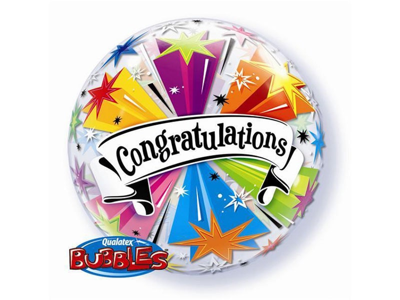 Bubble 22 Congratulations (Banner Blast)