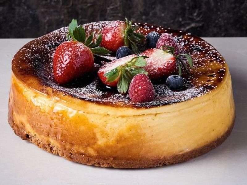 Caramelised White Chocolate Cheesecake